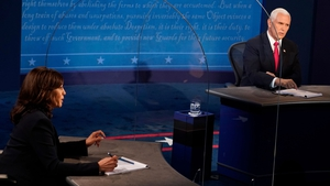 US Vice President Mike Pence and Democratic vice presidential nominee Kamala Harris going head to head last night