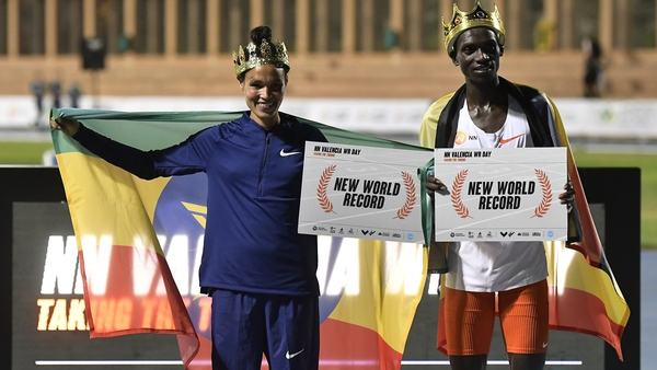 Letesenbet Gidey and Joshua Cheptegei were crowned world record holders in Valencia last night