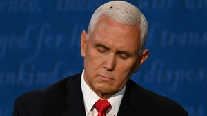 The insect sat on Mike Pence's head for several minutes during the debate