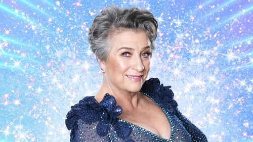 Caroline Quentin in Strictly glitter