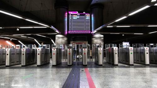 A near empty Sol train station in Madrid