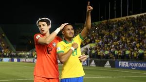 Marcelo Pitaluga (l) after Brazil's U17 World Cup win