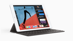 The new iPad works with Apple's Smart Keyboard