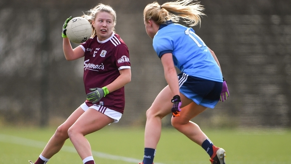 Noone (l) in action against Dublin