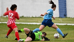 Emily Whelan scores against Treaty United