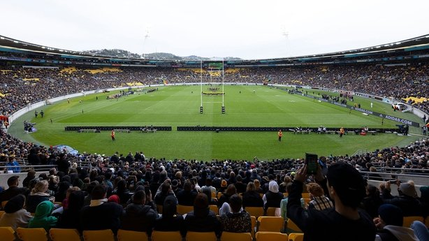 A near-capacity 31,000 crowd turned up at Sky Stadium in Wellington