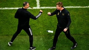 Duelling managers - Ryan Giggs and Stephen Kenny at the Aviva