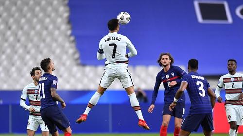 Ronaldo rises highest to head the ball