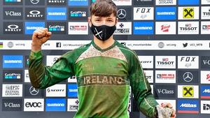 Oisín O'Callaghan won the UCI junior mountain bike championships in Austria last month