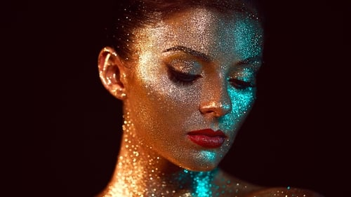 Katie Wright learned this clever trick from popstar Sophie Ellis-Bextor, who is a big fan of glitter make-up.