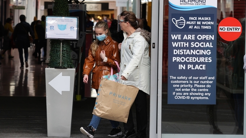 Shoppers in Derry, one of the worst affected areas in Northern Ireland for Covid-19 (file pic)