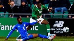 Obafemi in action during the reverse fixture last year