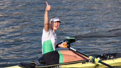 Sanita Puspure is the first Irish Olympian in action