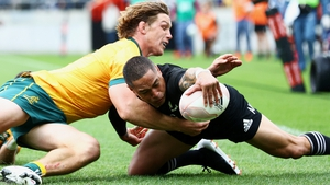 Aaron Smith scored New Zealand's second try against Australia
