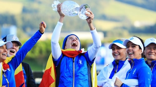 Spain's Carlota Ciganda has played in the last four Solheim Cups