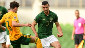 Enda Stevens in action during Ireland's goalless draw with Wales on Sunday