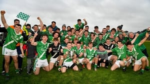 Moycullen players after their maiden county triumph