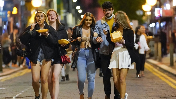 Groups enjoyed their last night out yesterday before pubs and clubs were closed due to new Tier 3 restrictions