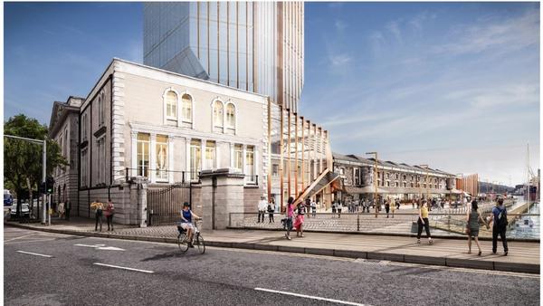 An artist's impression of the new development at Cork's Custom House Quay