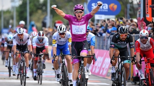 Arnaud Demare celebrates another stage success