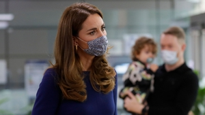 The Duchess wore a more muted outfit for the emotional visit. Photo: Getty