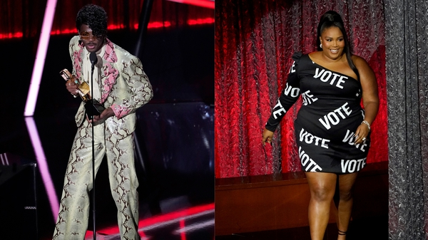 From Lil Nas's Prince-inspired suit to Nicole Richie's nearly naked outfit.