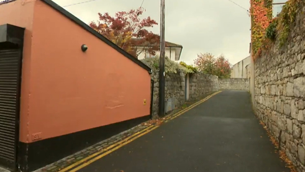 Baby Noleen's body was discovered in this laneway in Dún Laoghaire