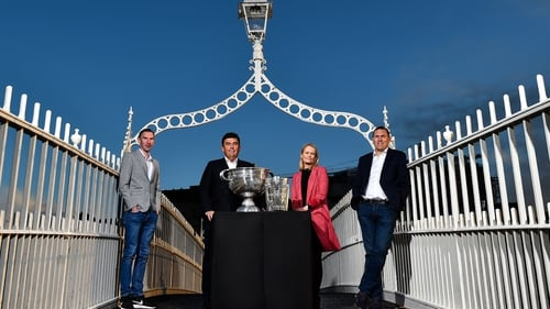 Ciarán Whelan (r) at the launch of RTÉ's Championship coverage