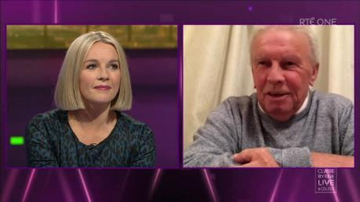 John Giles speaking to Claire Byrne