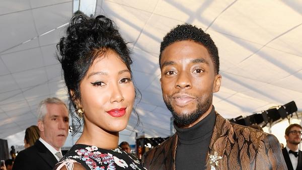 Chadwick Boseman with is wife Taylor Simone Ledward