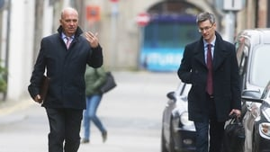 Chief Medical Officer Dr Tony Holohan and Deputy Chief Medical Officer Dr Ronan Glynn on their way into Government Buildings