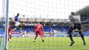 Calvert-Lewin rises high to level for Everton