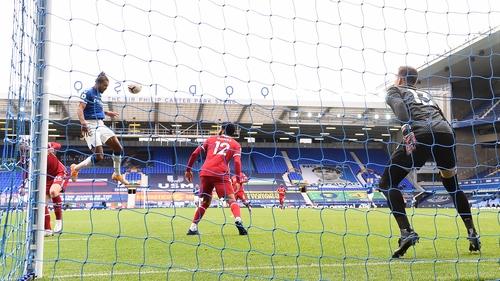 Calvert-Lewin rises high to level for Everton