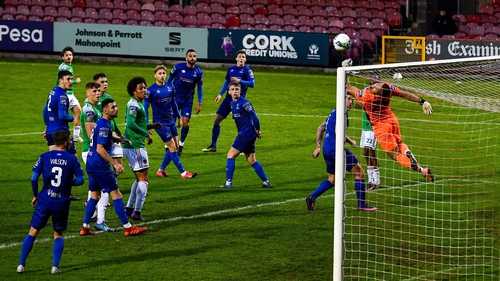 Brian Murphy of Waterford saves a shot on goal