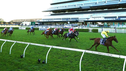Tom Marquand riding Addeybb win the Qipco Champion Stakes