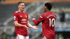 Marcus Rashford and Scott McTominay after sealing the win
