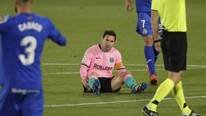 Lionel Messi hit the woodwork as Barcelona slipped up