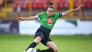 Aine O'Gorman was on target once again for Peamount United