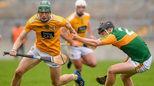 James McNaughton of Antrim in action against James O'Connor