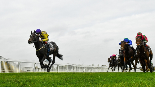 Ecliptical, left, with Colin Keane up, on their way to winning the Foran Equine Irish EBF Auction Race