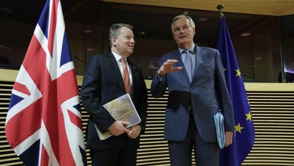 David Frost and Michel Barnier (File pic)