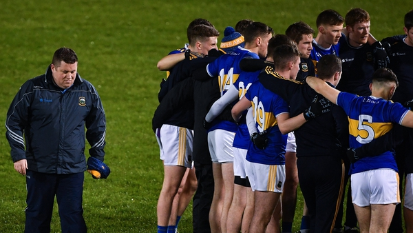 """Tipperary manager David Power (far left): """"It is after leaving a very, very sour taste."""""""