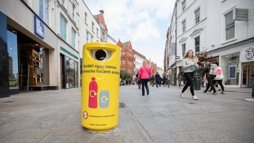 The bins have been installed around the city centre with the greatest concentration on Grafton St and Henry St