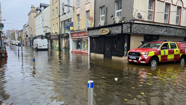 Streets under water in Cork city centre