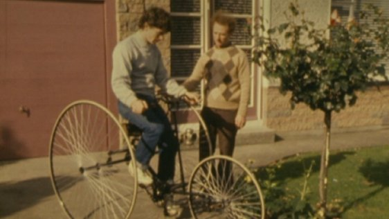 Ultan Guilfoyle on a Quadrant Tricycle with Peter Matthews (1980)