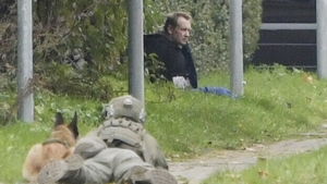 Police surround convicted killer Peter Madsen after he briefly escaped from prison