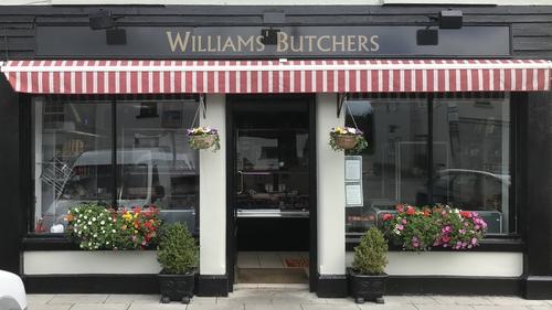 Williams' Butchers on the main street in Abbeyleix, Co. Laois
