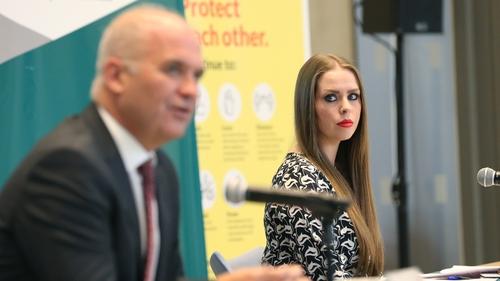 CMO Dr Tony Holohan and Deputy CMO Dr Heather Burns (Pic: RollingNews.ie)