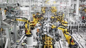 China's Caixin/Markit Manufacturing Purchasing Managers' Index rose to 53.6 from September's 53