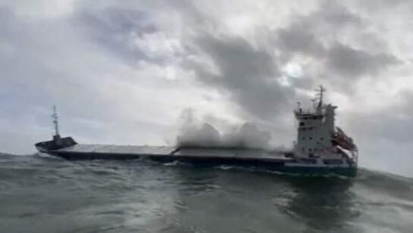 Lifeboat crews had to contend with force eight winds and six-metre high waves